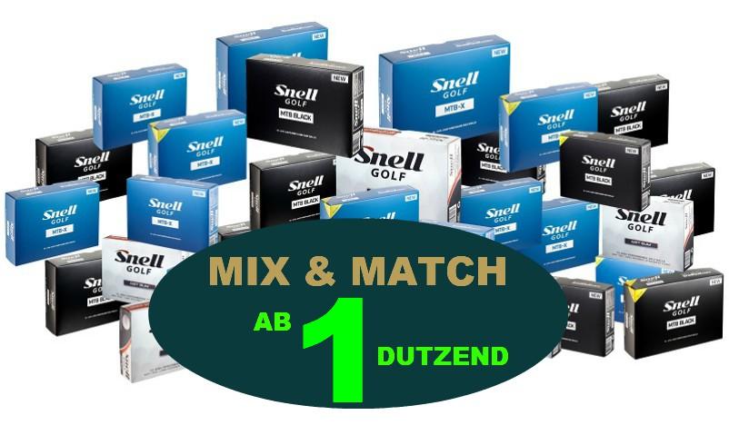MIX Und Match Snell Golfbälle