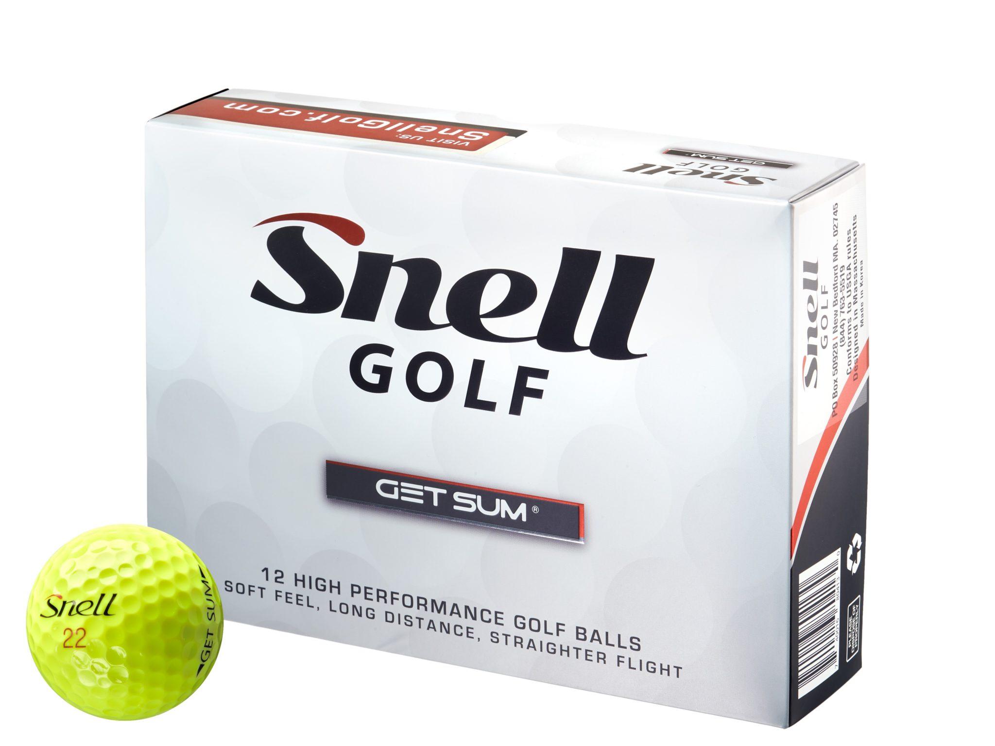 GET SUM 2 pece Golfball in gelb von Snell Golf